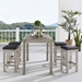 Westlake Modern Outdoor Bar Table and Stools Set