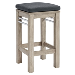 Westlake Contemporary Outdoor Wooden Bar Stool