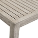 Westlake Contemporary Outdoor Wood Bar Table - Detail View