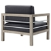 Westlake Contemporary Outdoor Wood Chair - Back View