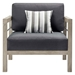 Westlake Contemporary Outdoor Wood Chair - Front View
