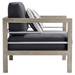 Westlake Contemporary Outdoor Wood Chair - Side View