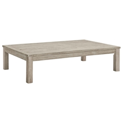 Westlake Contemporary Outdoor Wood Coffee Table