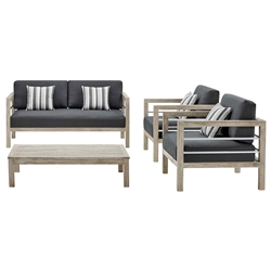Westlake Contemporary 4pc Outdoor Living Set