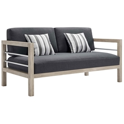 Westlake Contemporary Outdoor Wood Loveseat