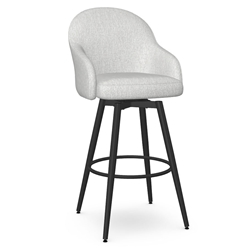 Weston Modern Counter Stool by Amisco in Black Coral + Pixel Fabric