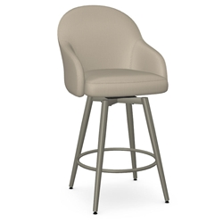 Weston Modern Counter Stool by Amisco in Titanium + Mushroom