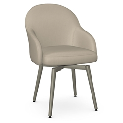 Weston Modern Dining Chair by Amisco in Titanium + Mushroom