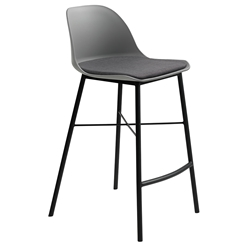 Whistler Modern Counter Stool in Grey by Unique Furniture