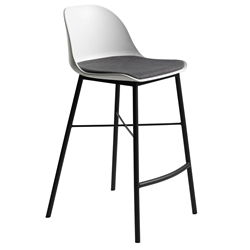 Whistler Modern Counter Stool in White by Unique Furniture