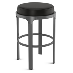 Whitaker Modern Bar Stool by Amisco in Metallo + Licorice