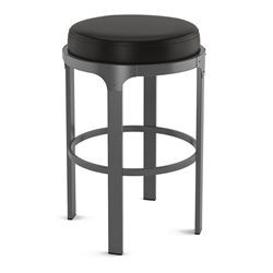 Whitaker Modern Counter Stool by Amisco in Metallo + Licorice
