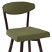 Wilbur Modern Stool by Amisco - Seat Detail in Cactus