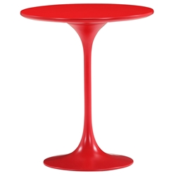 Wilco Red Mid-Century Modern Side Table by Zuo