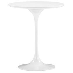 Wilco White Mid-Century Modern Side Table by Zuo