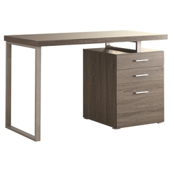 Weathered Gray Carey Modern Desk