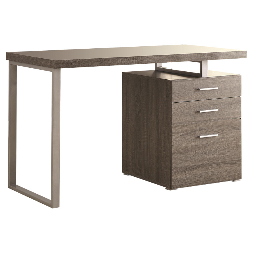 Modern Desk modern desks | carey dark taupe desk | eurway