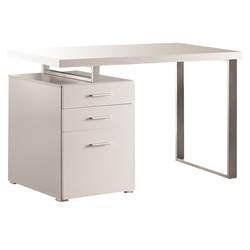 Carey Modern White Reversible Desk