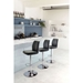 William Black Leatherette + Chrome Metal Modern Adjustable Stool Room Shot