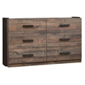 Williams Rustic Contemporary Double Dresser