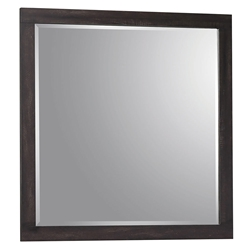 Williams Modern Square Mirror in Rustic Coffee