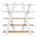 Wind White + Oak Contemporary Shelves