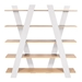 Wind White + Oak Contemporary Shelves by TemaHome