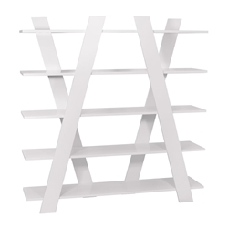 Wind White Contemporary Shelves