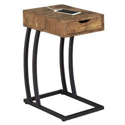 Winslow Modern Nutmeg Accent Table