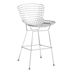 Wire Modern Chrome Bar Stool