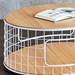 Wireframe Modern Coffee Table in White + Oak by Gus Modern - Detail
