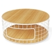 Wireframe Contemporary Coffee Table In Oak + White by Gus Modern