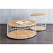 Gus Modern Wireframe Cocktail Table in Oak - Lifestyle
