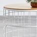 Wireframe Oak + White End Table and Storage by Gus Modern