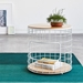 Wireframe Oak + White Modern End Table by Gus Modern