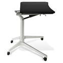 Werkpal Modern Adjustable Laptop Desk in Black/Silver