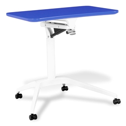Workpad Modern Adjustable Laptop Desk in Blue/White