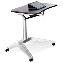 Workpad Modern Adjustable Laptop Desk in Espresso/Silver