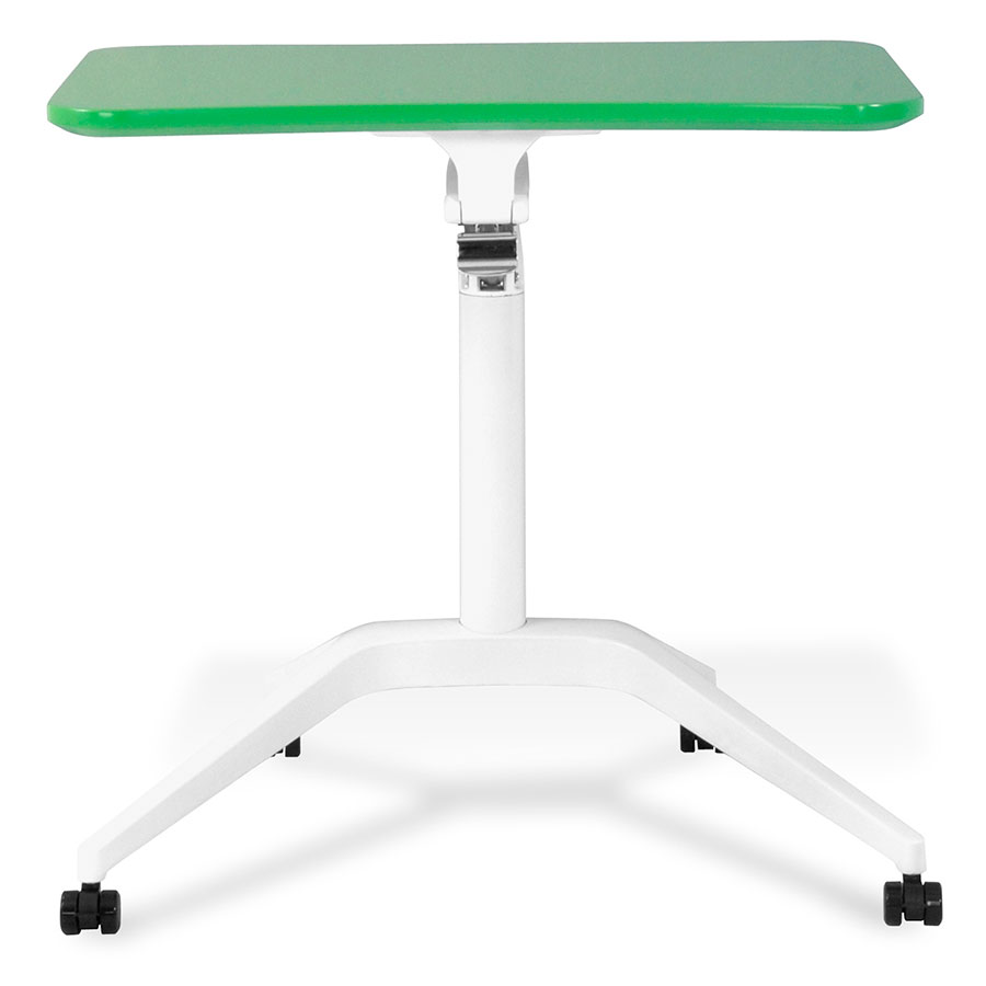 Green/White Workpad Adjustable Laptop Desk - Front/Down