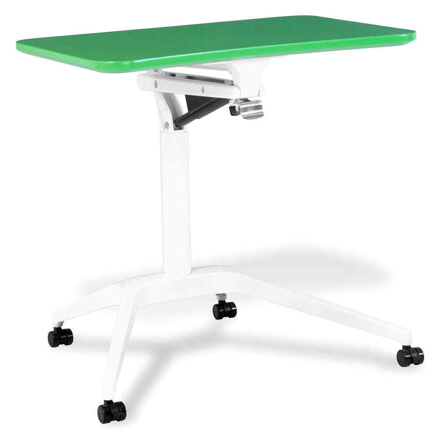 Werkpal Modern Adjustable Laptop Desk in Green/White