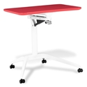 Werkpal Modern Adjustable Laptop Desk in Red/White