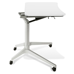 Werkpal Modern Adjustable Laptop Desk in White/Silver