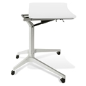 Workpad Modern Adjustable Laptop Desk in White/Silver