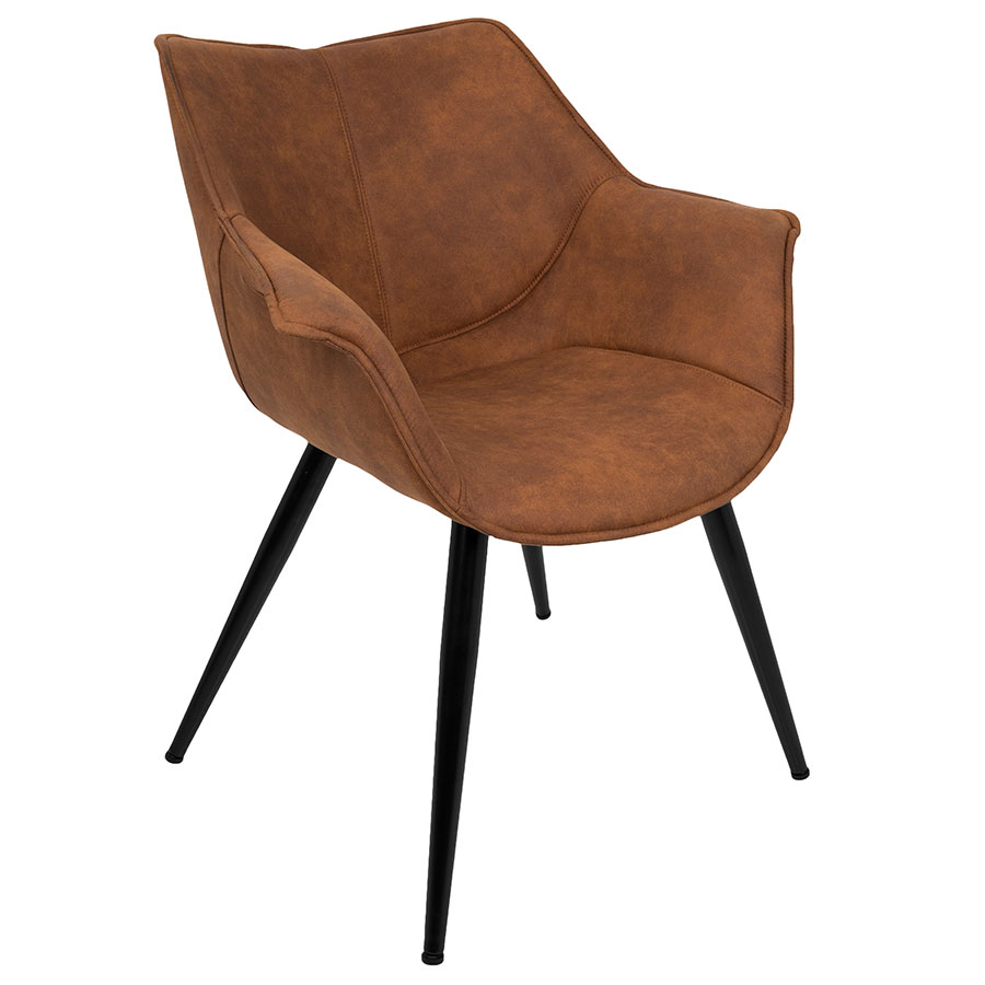 Call To Order · Wrestler Rust Suede Like Polyester + Black Metal Modern  Accent Arm Chair