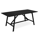 Gus* Modern Wychwood Rectangular Black Ash + Black Powder Coated Steel Contemporary Dining Table