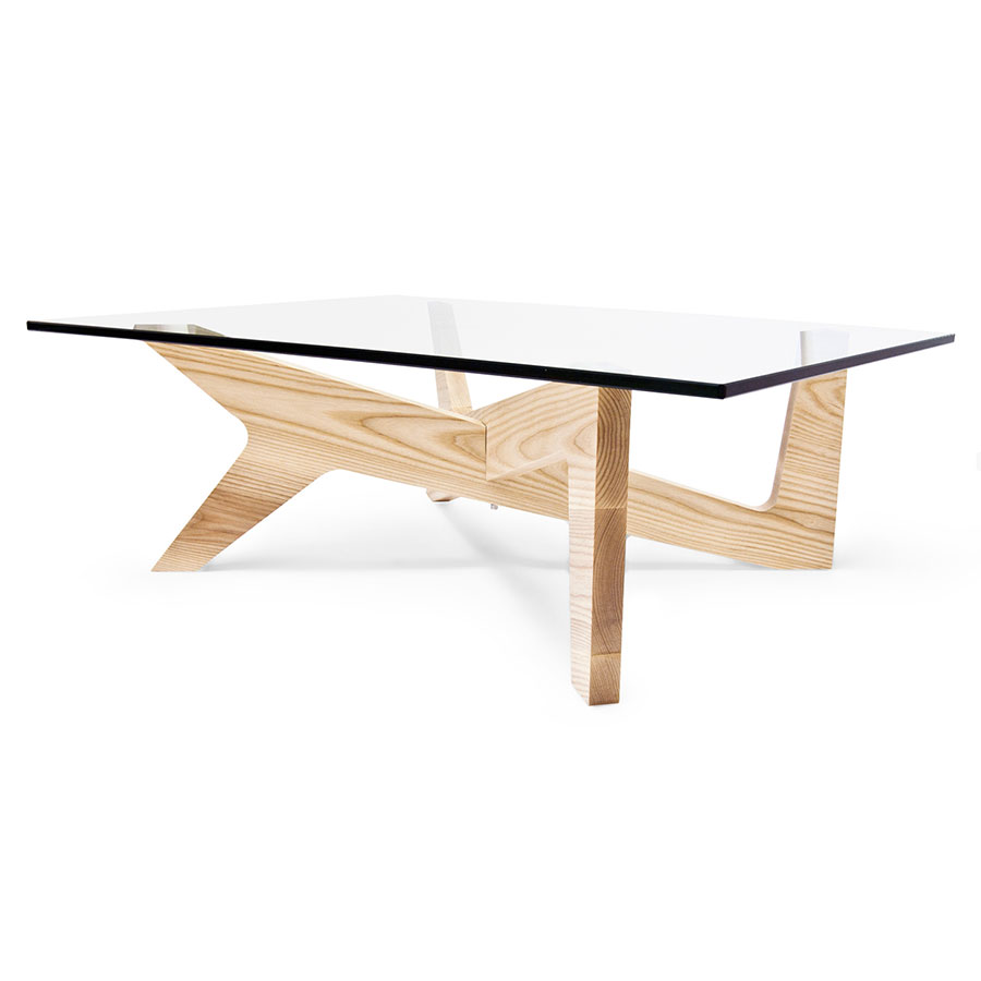Xavier Solid American Ash Modern Coffee Table