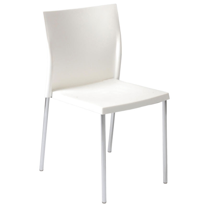 Yeva White Modern Dining Side Chair