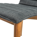 Yoland Charcoal Fabric + Wood Contemporary Dining Chair