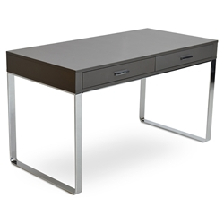 York Modern Gray Lacquer Desk by sohoConcept