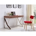 Yusef Walnut + Steel Contemporary Desk With Drawers
